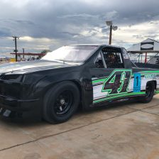 Amaduzzi in azione al Tucson Speedway