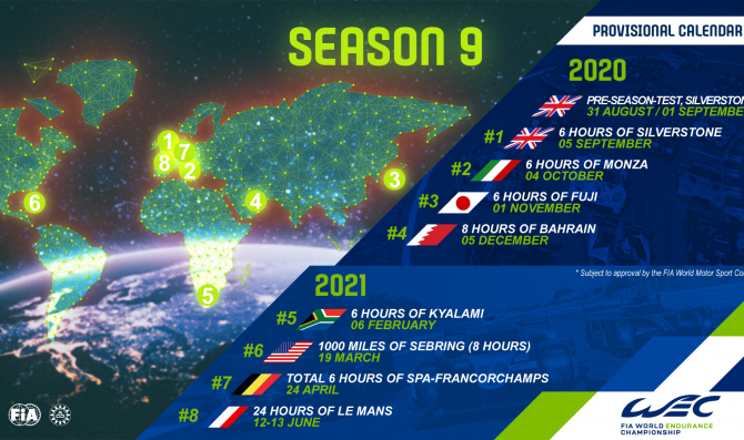 FIA WEC 2020/2021 unveiled