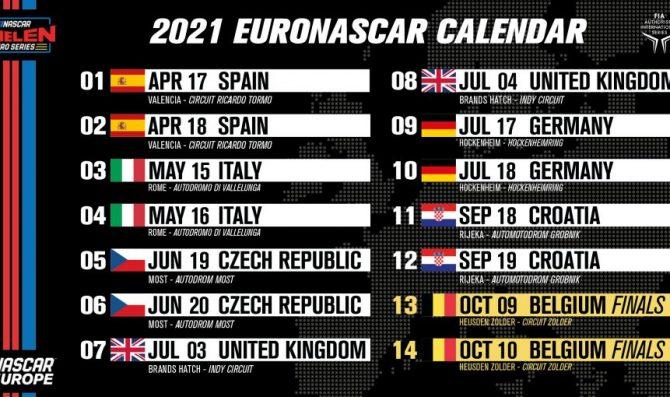 Svelato il calendario EuroNASCAR