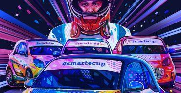 Federico Leo sulla smart e-cup SportMediaset a Vallelunga