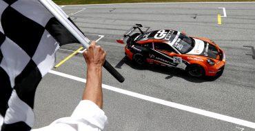 Abbott-Kodric convert pole to win
